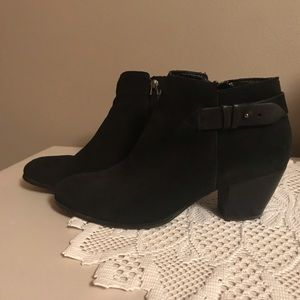 Guess Black Suede Ankle Boots